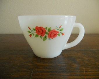 Replacement Fire King Rose Tea Cup