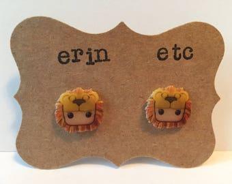 Handmade Plastic Fandom Earrings - Harry Potter - Luna Lovegood (Lion Mane)