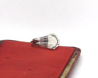 sterling silver ring, sterling spoon ring, sleek sterling silver ring, smooth ring
