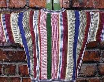 Colours by Alexander Julian Vintage 1980s Cotton Crew Neck Sweater
