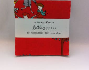 LITTLE APPLES  by Aneela Hoey for Moda,  OOP Charm Pack