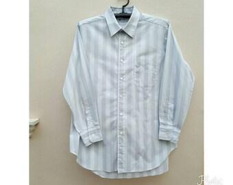 Vintage LANVIN Men shirt Size 42