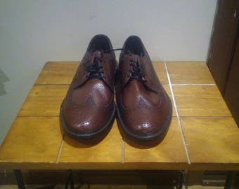 New Weyenberg Vintage Wingtip Shoes 9 1/2 D Made In USA