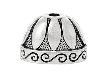 Cap / tip caps large molded silver antique - REF.: 1 B 45805