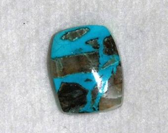 Chrysocolla, Chrysocolla Cabochon, Chrysocolla Quartz, Semi Precious, Natural Stone, Gemstone, Wire Wrap, 29mm
