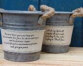 SALE Numbers 6:24-26  Galvanized Bucket