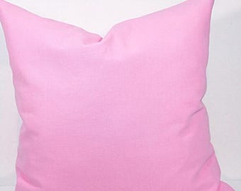 SALE Pillow cover. 20x20.pink. Solid pink pillow cover. Designer  cover.cushion cover.cm