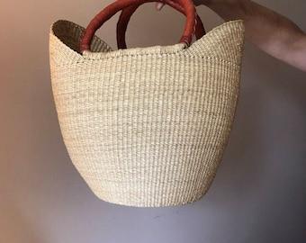 Large Woven Basket Purse