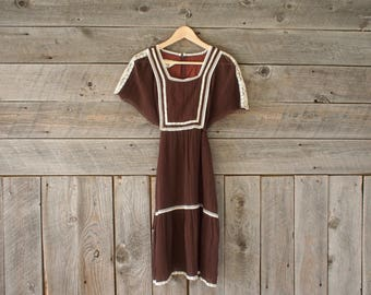 vintage Roberta peasant dress