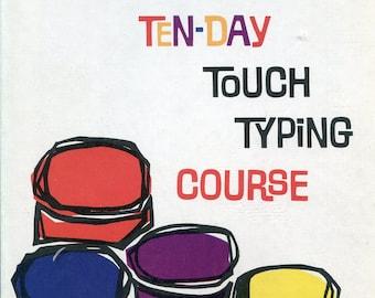 1960s Smith Corona Ten-Day Touch Typing Course Book & 5 Records