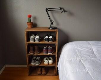 rustic shoe organizer shoe rack shoe storage shoe shelf 22x11x35