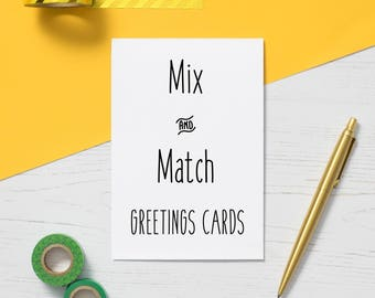 MIX & MATCH A6 Greetings Cards