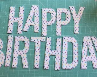 "6"" Tiny Triangles ""Happy Birthday"" Banner"