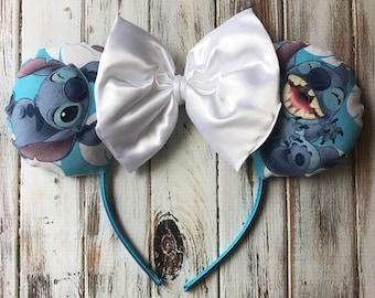 Stitch Ears, Lilo and Stitch, Disney, Disneyland, Disney World, Mickey Ears, Halloween