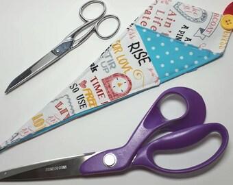 Scissor Pouch Scissor Keeper Kichen Retro Polka Dot Craft Crafter Hairdresser Gift Kitchen Doublesided