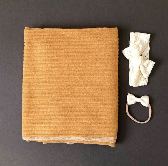 Baby Swaddle- the | Sorell | Mustard Swaddle Blanket