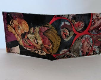 comic book wallet, slim wallet, hanmade wallet, card holder, thin wallet, vinyl wallet, mens wallet, joker 7