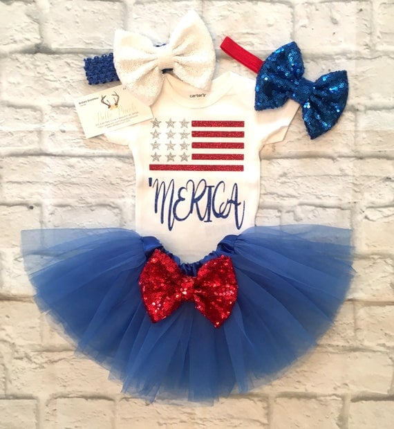 May The Fourth Be With You Baby Clothes: Baby Girl Clothes Fourth Of July 'Merica Bodysuit