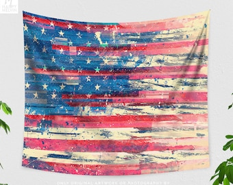 Amerikka | Wall tapestry | Tapestry | USA Tapestry | American Flag Tapestry | America | Flag | Stars and stripes Tapestry | Wall hanging