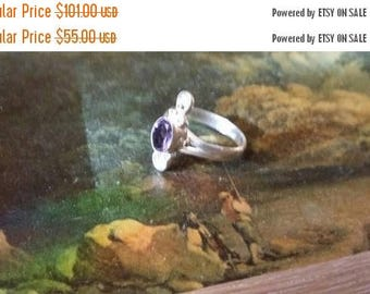 Holiday SALE 85 % OFF Amethyst  Size 9 3/4 Ring Gemstone. 925 Sterling  Silver   Etsy Gift Sale