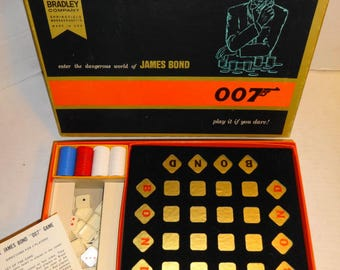 1965 007 Game by Milton Bradley. Mint Complete.