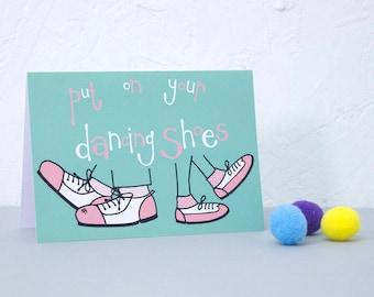 Birthday Card, Birthday invitation, Illustrated card, Party invite