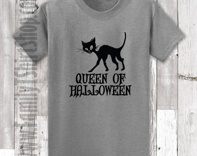 Queen of Halloween Cat T-Shirt