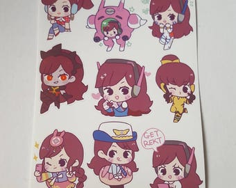 Love D.Va Sticker 5x6 Sheet