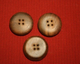 craft buttons - Walnut wood-