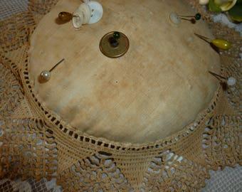 Sweet Vintage Time Worn Handmade Pin Cushion 1920s-1930's