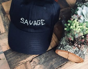 SAVAGE embroidered dad hat