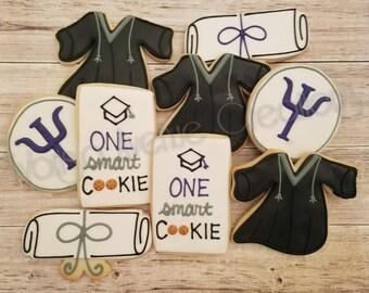 12 Psychology Graduation Sugar Cookies - Psychology Graduation Gift - Psychology Grad Party Favors - Science Graduation Party Cookies