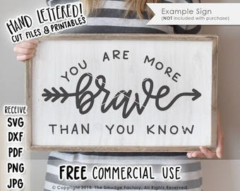 Brave SVG Cut File, You Are Brave SVG, Silhouette Cameo, Cricut Cutting File, Arrow Cut File, Be Brave Tee, Wanderlust Cut File, Travel SVG