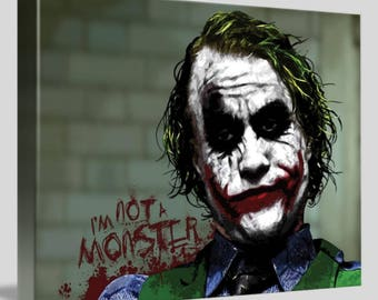 The Joker Framed Canvas Digital Artwork Wall Art A4 - A3 - A2 - A1