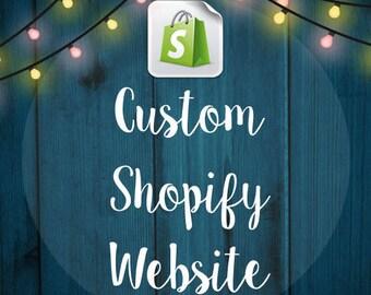 Custom Shopify eCommerce Website Design - Online store - Web Design -  eCommerce Website - Shop - Web Shop