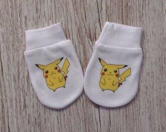Pokemon Cute Pikachu Baby Scratch Mitts