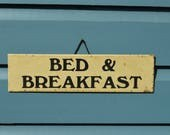 Original vintage guest house bed and breakfast window door sign hotel plaque