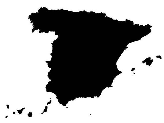 Spain map vector digital download file dxf dwg svg spain map vector digital download file dxf dwg svg suitable for silhouette gumiabroncs Images