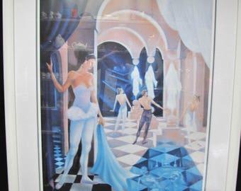 "Alain Scordilis Romantic Surrealism Lithograph ""The Dreaming Ballerina"" Signed"