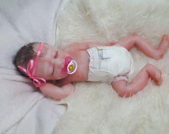 DRINK-WETnewbornGirlChrisitinaFullbodySiliconeBabyOOAKMagdalena's Art-Baby doll