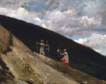 Winslow Homer: In the Mountains. Fine Art Print/Poster (004612)