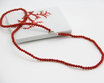Red coral necklace Corsica authentic certifiė