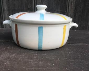 Covered casserole dish deSphinx Parafeu Holland mid century modern