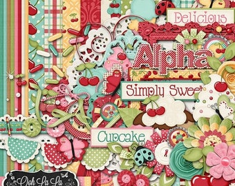 On Sale 50% With A Cherry On Top Digital Scrapbook Kit - Digital Scrapbooking