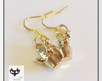 Cacti Gold-Tone Earrings