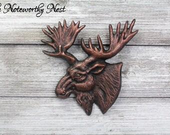 COPPER Moose Head Wall Decor // Rustic Decor / Cabin Wall Decor / Hunting Decor / Lodge Decor / Copper Decor / Rustic Decor / Man Cave