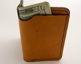 Minimal Wallet, Front Pocket Wallet, Slim Wallet,  Bill Fold Wallet, Horween Wallet