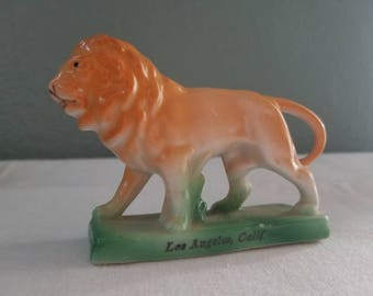 Vintage Los Angeles LION souvenir made in Germany
