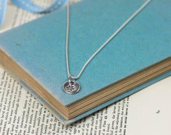 Fine Silver Flower Necklace - Silver Flower Pendant - Flower Charm Necklace - Fine Silver Flower Charm - Fine Silver Flower Necklace