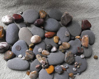 Gray River Rocks And Polished Oregon Beach Stones Lot